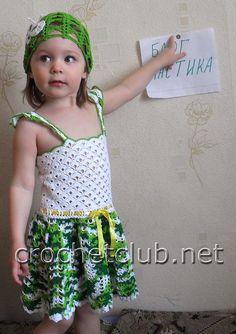 crocheted girl dress
