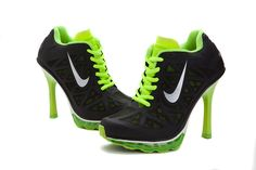 nike high heel sneakers for women | Buy Online New Nike Air Max Woman High Heel Shoes Black Fluorescence ...