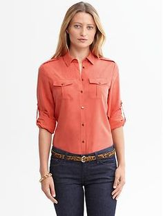 Heritage safari shirt | Banana Republic  Cactus Flower, natural $79.50 xsmall