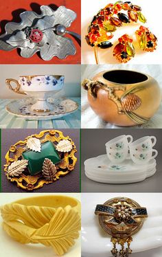 Almost time for leaves to fall...gorgeous pieces..all from #Etsy  --Pinned with TreasuryPin.com