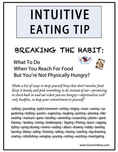 Intuitive Eating Tip: Breaking The Habit... by  CamerinRoss.com