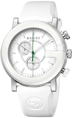 Gucci Watch , Gucci Women's YA101346 G Chrono White Matte Painted Dial Watch