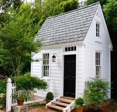 , but after seeing this cute garden shed, my mind has been spinning with thoughts of how I can remodel our little garden shed that was once a chicken coop. Repost from using Low Maintenance Garden Design, Shed To Tiny House, Backyard Sheds, Garden Sheds, Outdoor Sheds, Outdoor Buildings, She Sheds, Potting Sheds, Outdoor Living