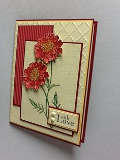 red field flowers could be a sympathy card or a birthday card