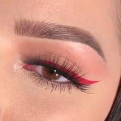Drop your fave red emoji below ❤️🚨 - Makeup - Maquillage Makeup 101, Red Makeup, Cute Makeup, Makeup Goals, Eyebrow Makeup, Skin Makeup, Makeup Inspo, Makeup Inspiration, Beauty Makeup