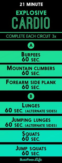 Zero cardio machines? Swap in a circuit of bodyweight exercises for 20 to 30 minutes instead.   19 Ways To Get A Great Workout Even If Your Gym Is Sketchy AF