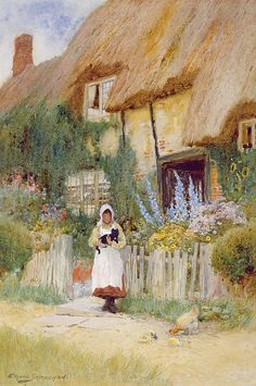Arthur Claude Strachan - English cottage garden school
