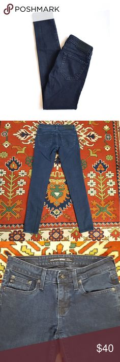"""Big Star Envy Cigarette Dark Wash Skinny Jeans Envy Cigarette Skinny Jeans. Great condition. Some fading but jeans are also company distressed. Dark wash. Stretch skinny jeans (98% cotton, 2% spandex).   Waist approx 13"""" across when flat, rise 8 1/4"""", inseam 30"""", leg at ankle approx 4 7/8"""", hip (right below front pockets) 15 1/2"""". Big Star Jeans Skinny"""