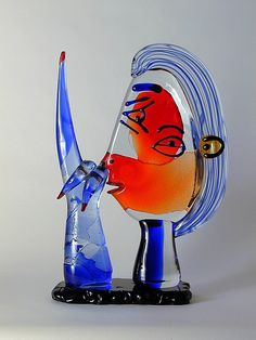 Murano. Sculpture in multicolored heavy glass.