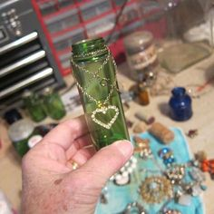 how to make small decorative bottle vases