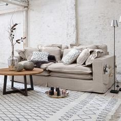 Sofa Terrell - Home Decor Deep Couch, Couch Cushions, Upholstered Sofa, Fabric Sofa, Shabby, Sectional Sofa, Interior Inspiration, Love Seat, Living Room Decor