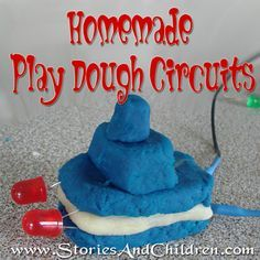 Homemade Play Dough Circuits - using conductive and non-conductive homemade playdough. Looks fun!