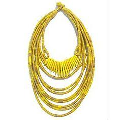Yellow  #InstaSize #nangara #necklace #handmade #silk #statementnecklace #jewelry #yellow #biojoias #joias