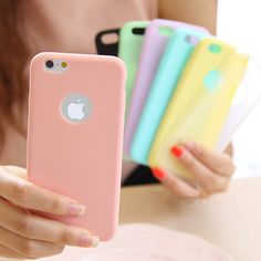 Solid Candy Color Matte Skin Case for iPhone 6S TPU Rubber Soft Back Cover for iPhone 6 6S Silicon 4.7 inch 6 6s plus Colors