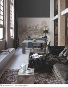 Tres Tintas Barcelona #behang #wallpaper #interior