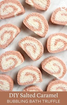Create Salted Caramel Bath Truffles at home with skin-loving cocoa butter and shea butter. These bath truffles also create bubbles in the tub. Bath Bomb Recipes, Soap Recipes, Baking Recipes, Cocoa Butter, Shea Butter, Christmas Gifts For Adults, Caramel, Body Tutorial, Home Made Soap