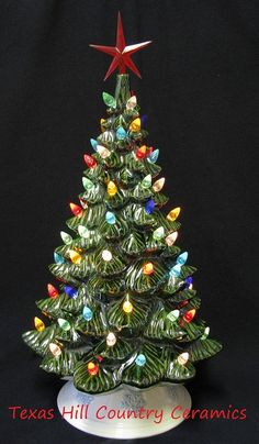 This 19 inch tall vintage Ceramic Christmas Trees will make a great addition to any holiday tree collection or a reason to start one. This collectible Christmas tree is brand new and is nearly 2 feet tall.