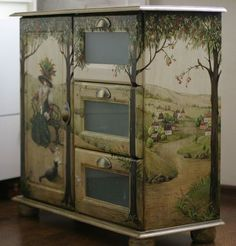 home decor furniture Art Furniture, Decoupage Furniture, Hand Painted Furniture, Funky Furniture, Repurposed Furniture, Furniture Projects, Furniture Makeover, Tole Painting, Diy Painting