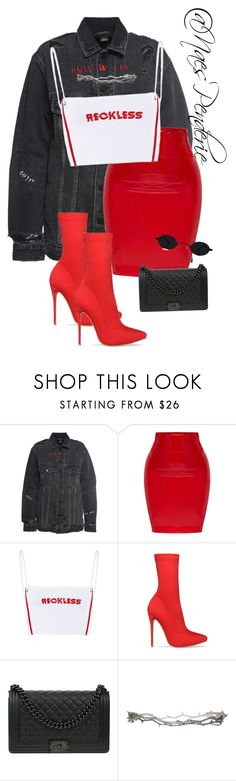 """""""Untitled #127"""" by naes-penderie on Polyvore featuring Alexander Wang, Chanel and Pearls Before Swine"""