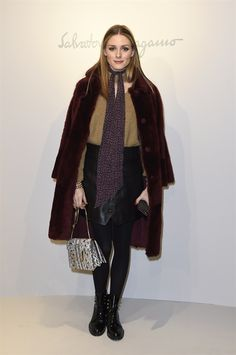 Olivia Palermo attends the Salvatore Ferragamo show during Milan Fashion Week Fall/Winter 2017/18 on February 26 2017 in Milan Italy