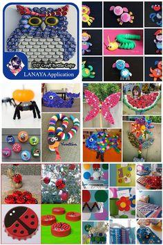 169 Best Plastic Bottle Cap Crafts Images Bottle Cap Crafts