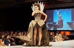 The Iron Throne From Game of Thrones dress design from the Her Universe SDCC fashion show