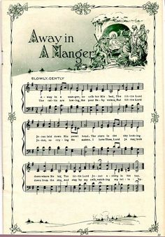 Free printable sheet music and much more on the site! Can use in a Christmas craft project I   http://christmasdecorstyles.blogspot.com