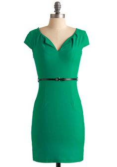 And We're Live Dress in Green