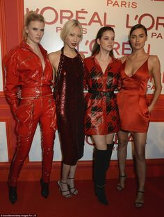 All together now: Lara and Irina were joined by Soo Joo Park (centre left) and Barbara Pal...
