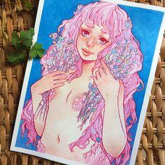 6,590 отметок «Нравится», 50 комментариев — Alisa Vysochina (@alisavysochina) в Instagram: «Pink mermaid (she supposed to be a sister of precious one, that I posted)  And new video on my…»
