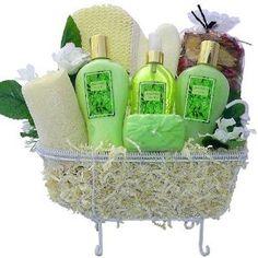 Birthday Gifts:Art of Appreciation Gift Baskets Essence of Jasmine Bathtub Spa, Bath and Body Set