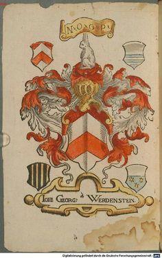 Familienwappen - Wappen der Johann Georg von Werdenstein / Family Coats of Arms of Johann Georg von Werdenstein