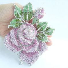 Bouquet Floral Brooch Pin Gorgeous Rose Flower by VanessaJewel, $26.95