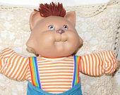 Cabbage Patch Koosas Cat, Cabbage Patch Dolls, Vintage Cabbage Patch Dolls, Cloth Body Dolls,