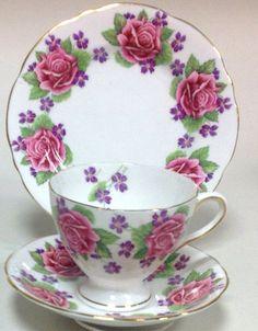 Gladstone China - Pink Roses & Violets