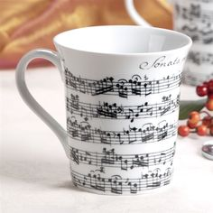White Vivaldi Sheet Music Mug