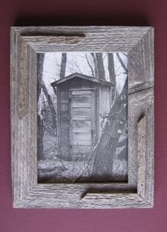reclaimed barn wood ideas - picture frame