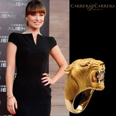 American actress Olivia Wilde looks radiant wearing Carrera y Carrera's Tiger ring, impressive piece full of creativity and immeasurable realism, faithful to the origins of the brand. This iconic ring was created for a passionate, modern woman who loves art and who wants to feel different and unique.  @oliviawilde #carreraycarrera #lookoftheday #jewelry #luxury #ootd #jewelry #jeweloftheday #instajewel #goldenjewels #jewels #joyas  #creativejewelry #joyeríacreativa #oliviawi