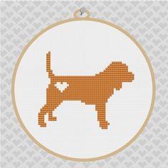Beagle cross stich! LOVE!.