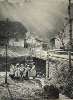 In the Black Forest. Photographer: Max Henry Ferrars (Germany, 1900).