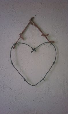 CLEARANCE Barbed Wire Heart by human7880 on Etsy, $10.00