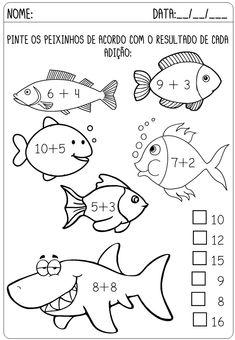 Teaching Math, Math Activities, Preschool Activities, Math Exercises, 3rd Grade Math Worksheets, Activity Sheets For Kids, Math Sheets, Kids English, Letter A Crafts