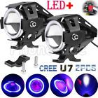 ❧☼ 2PCS 125W CREE #U7 LED Motorcycle Headlight Driving Fog Light #Spot Lamp + #Switch http://ebay.to/2fMsh9E