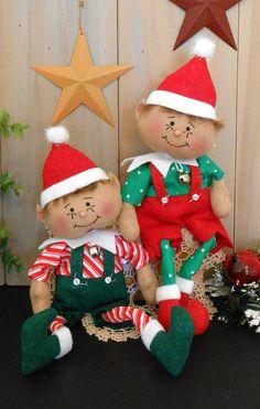 PDF E-Pattern Primitive Raggedy Elf Doll Christmas Holiday Country Folk Art Cloth Sewing Art # 94 Poseable Boy Seasonal Home Decoration by cottonwoodcountry on Etsy https://www.etsy.com/listing/272695496/pdf-e-pattern-primitive-raggedy-elf-doll