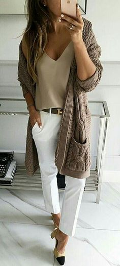 Not big one the white pants... but like the look