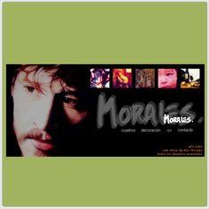 Año 2003 - DIMS - Diseño de portfolio online para el artista plástico Alex Morales