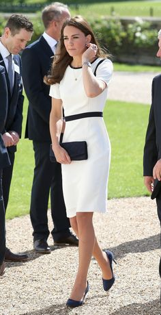 Catherine, Duchess of Cambridge arrives at the National Maritime Museum in Greenwich for the Ben Ainslie America's Cup Launch on June 10, 20...