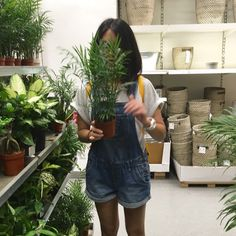 Imagem de plants, aesthetic, and girl