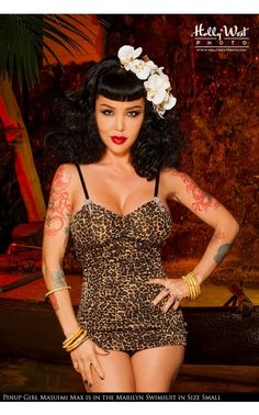 Pinup Couture - Marilyn Swimsuit in Leopard | Pinup Girl Clothing