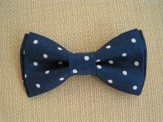 Navy blue bowtie Polka dot bowties for kidstie clip by ClipABowTie, $8.00 #rt #spinoff